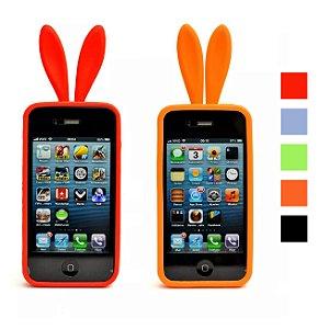 Capa Case Para Celular Iphone 4g / 4gs Desing Coelho Divertida