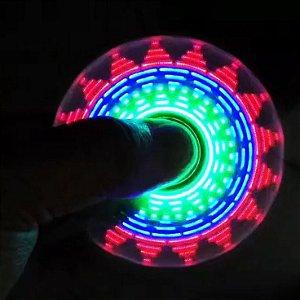 Hand Spinner Anti Stress com LED que forma desenhos