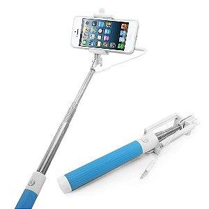 Pau de Selfie - Monopod - Bastão Retrátil para Celular com cabo P2 e disparador de fotos