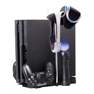 Base Suporte 5 em 1 Vertical Playstation Ps4 Slim Pro Vr
