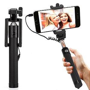 Bastao de Selfie - Monopod - com disparador via cabo P2 para Celular
