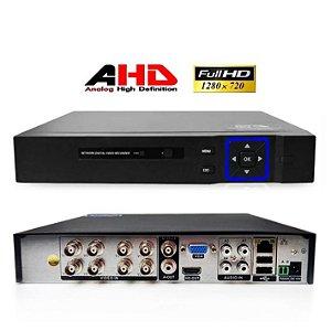 DVR AHD 8 Canais para Câmeras De Segurança Gravador ao Vivo
