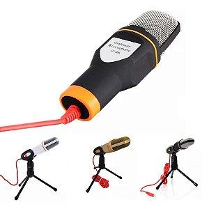 Microfone Condensador Profissional Sf-666 + Tripé