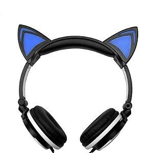 "Headphone Stéreo ""orelhas de gato"" c/ LED"