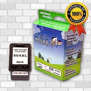 CARTUCHO DE TINTA COMPATÍVEL HP 664XL - PRETO / 14ML