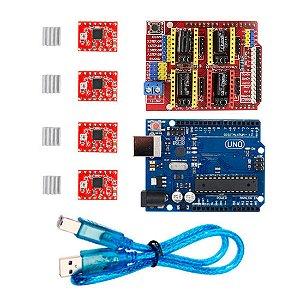 Kit CNC e Impressora 3D com Arduino