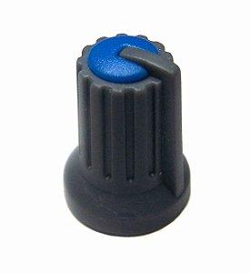 Botão Knob KA481 para Potenciômetro - Preto