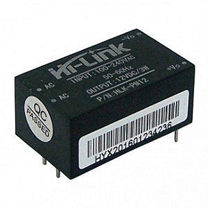Mini Fonte HLK-PM12 90-264VAC para 12VDC 3W Hi-Link