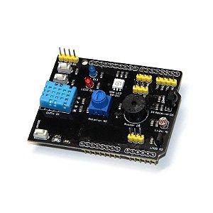 Shield Multifunções para Arduino com Sensores e I/O´s