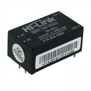 Mini Fonte HLK-PM03 90-264VAC para 3.3VDC 3W Hi-Link
