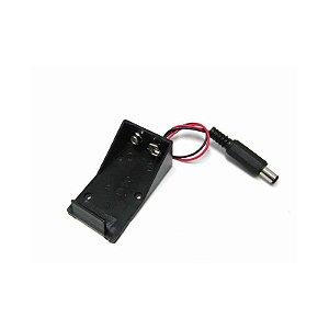 Suporte para Bateria 9V com saída P4 ( Case para bateria 9v )