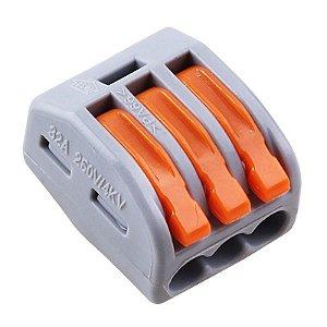 Conector Wago Borne Emenda Para 3 Fios - Modelo 222-413
