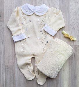 Macacão Maternidade - Mia Amarelo (Somente macacão)