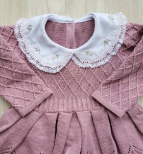 Conjunto Maternidade Alice Rosê (Vestido com gola e Calça)
