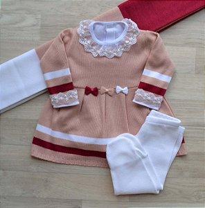 Saída Maternidade Tricot - Olívia Rosê (Sem body)