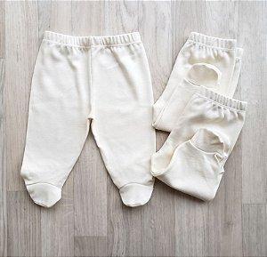 Mijão / Culote em algodão suedine - KIT com 3 - Branco ou Bege