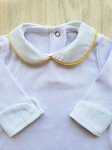 Body Maternidade Gola Pólo - Viés amarelo