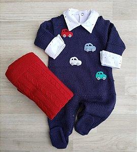 Macacão Maternidade - Vinícius Azul Marinho (Somente macacão)