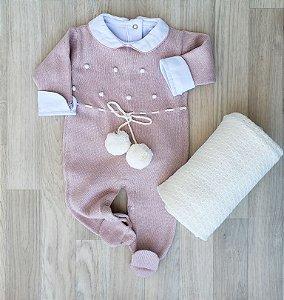 Macacão Maternidade Tricot - Antonela Rosê