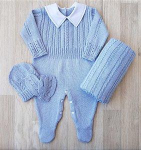 Macacão Maternidade - Guilherme Azul claro (Somente macacão)