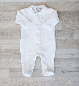 Macacão Maternidade Algodão - Mandalas Off white
