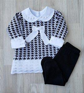 Conjunto Maternidade - Laís Preto e Branco (Sem body)