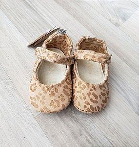 Sapatinho Couro - MAC Bebê (Oncinha - Tam. 18)