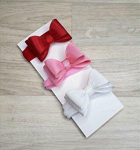 Kit 3 Faixinhas meia de seda - Laço 3D