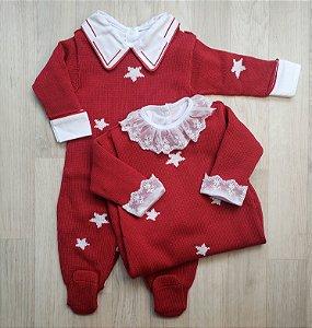 Macacão Maternidade - Sky Vermelho (Somente macacão)