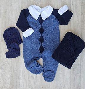 Macacão Maternidade Teodoro - Azul jeans (Somente macacão)
