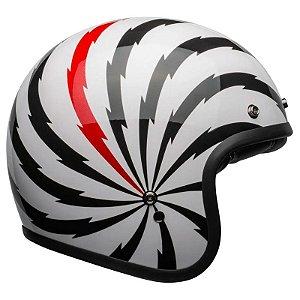 Capacete Bell Custom 500 Vértigo White Black Red