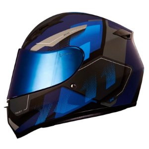 Capacete X11 Trust Pro Transit Fosco Cinza e Azul