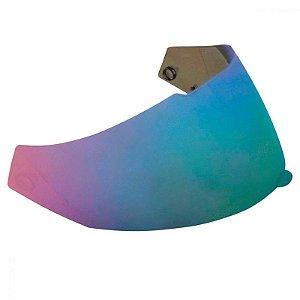Viseira Original metalizada azul em policarbonato antirrisco para o capacete Bieffe B-40