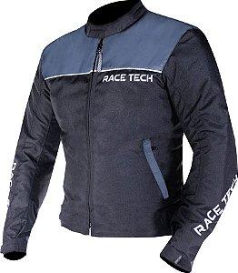 Jaqueta Race Tech Fast Preta e Cinza