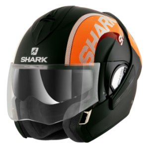 CAPACETE SHARK EVOLINE SERIE 3 ESCAMOTEÁVEL DROP MATT KOK