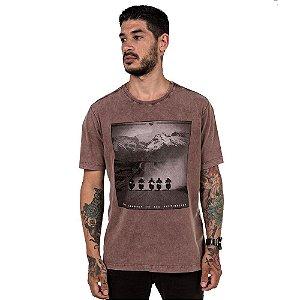 Camiseta Off Traill - Marrom