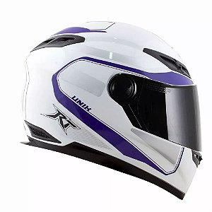 CAPACETE RACE TECH RT501 EVO UNIK BRANCO/ROXO