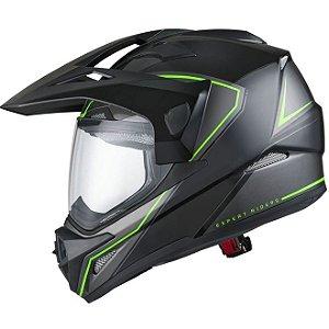 Capacete X11 Crossover X2 Preto/Verde