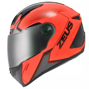 CAPACETE ZEUS 811 EVO SPEEDSTER FLUOR ORANGE AL6 BLACK