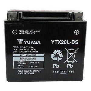 Bateria Yuasa Ytx20l-bs |12v - 18ah|yamaha Xvz1300/harley Davidson Flst/fxd/kawasaki/jet Ski