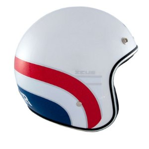 CAPACETE ZEUS 380H PEARL WHITE/K63 RED