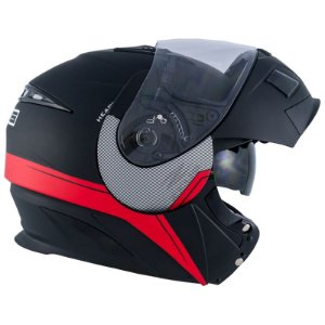 CAPACETE ZEUS 3020 MATT BLACK/AB11 ADVENTURE RED