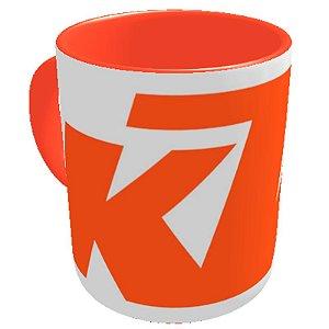Caneca logo KTM Branca/ Laranja