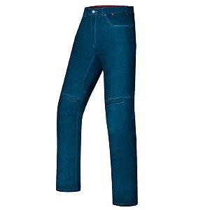 Calça X11 Jeans Motociclista Ride Azul Com Proteções