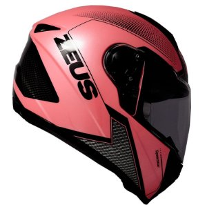 Capacete Zeus 811 Evo Speedster Pearl Pink Al6 Black