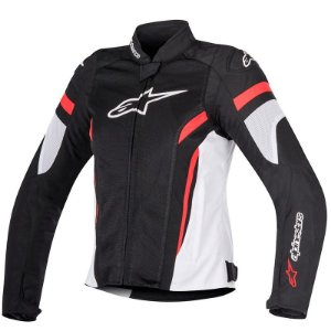 Jaqueta alpinestar feminina T-Gp Plus R V2 Air Preto, Branco e Vermelho
