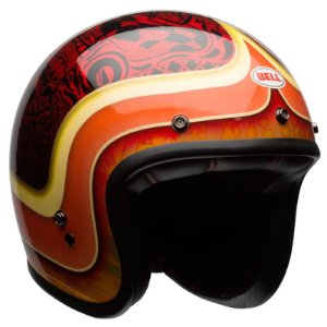 Capacete Bell Custom 500 Hart Luck Red Black