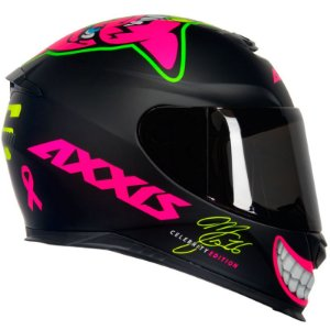 Capacete Axxis Mg16 Celebrity Edition By Marianny Preto Fosco/Rosa