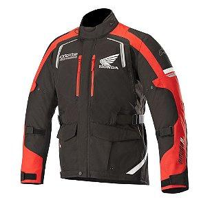 Jaqueta Alpinestars Honda Andes V2 Drystar® Impermeável - Preto e Vermelho