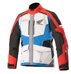 Jaqueta Alpinestars Honda Andes V2 Drystar® Impermeável - Cinza Vermelho e Azul